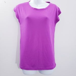 Under Armour cap sleeve lace back top S